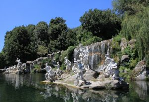 Diana and Actaeon Fountain at the Royal Palace of Caserta (Reggia di Caserta) whilst on our road trip.