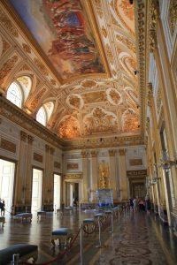 Gold ceiling inside Caserta Palace (Reggia di Caserta), Italy