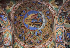 Painted Ceiling. Rila Monestary