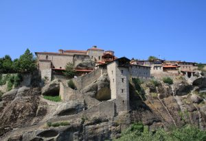 The Great Meteoron Monastery, Meteora near Kalabaka. Greece. Visited during a road trip around Europe in a self build Relay, Boxer, Ducato camper van
