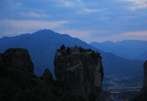 Monastery of The Holy Trinity. Meteora, near Kalabaka. Motorhome Road Trip around Greece
