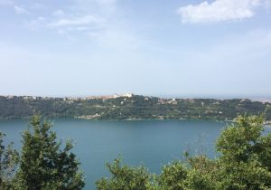 View over Lake Albano (Lago di Castel Gandolfo), near Rome, Lazio, Italy during our Road Trip.