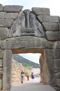 Lion's Gate, Mycenae, Road trip around Europe in a self build camper van