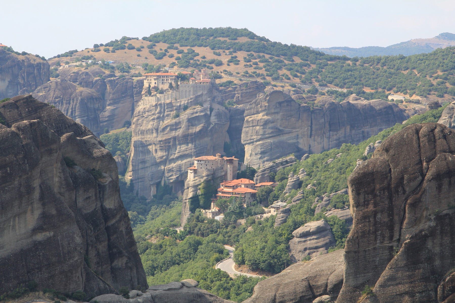 Stunning view of Meteora from the motorhome