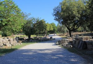 Archaeological site at Olympia, Greece