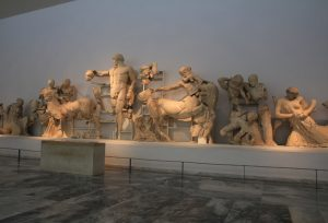 Inside the archaeological museum of Olympia