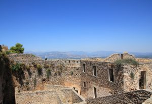 View over Palamidi fortress, nafplio, greece during our road trip