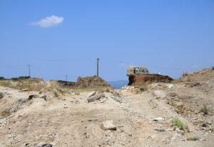 Barron landscape of Corinth with undercut pillboxes.