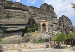 Bell Tower, The Holy Monastery of St. Nicholas Anapafsas, Meteora near Kalabaka. Greece