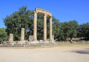 Impressive ruins of Olympia, Greece