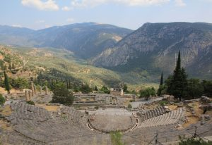 Amazing backdrop, Delphi, Greece