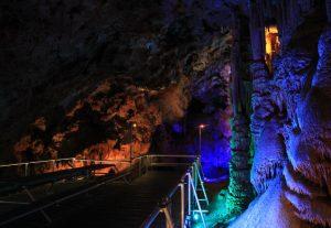 Viewing platform inside Venetsa Cave