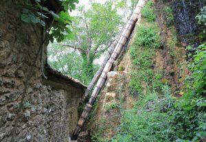 water pipe at water power museum, Dimitsana