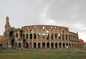 The Colosseum or Flavian Amphitheatre in Rome, Italy seen on our amazing road trip!