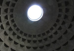 Roof of the Pantheon, Rome, Italy. One of my favourite places in Europe!