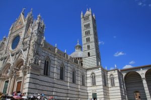 Side view of Siena Cathedral, Italy.