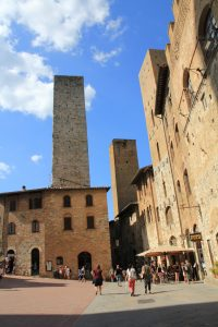 Tower in San Gimignano, Italy whilst on our European Road Trip