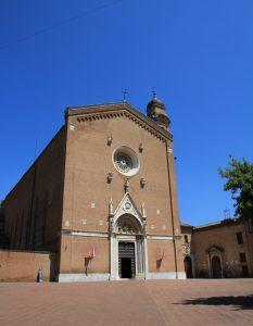 Basilica of San Francesco in Siena, Tuscany, Italy.