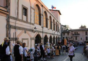 Summer festival in Artena, Italy