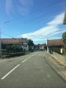 Driving through Hirsingue, France.
