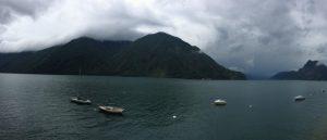 Panoramic view of lake Lugano, Switzerland during our European Road Trip