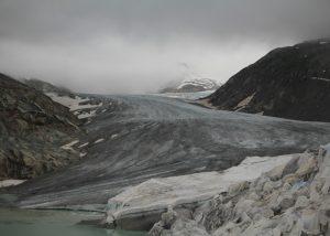 View over the Rhone Glacier