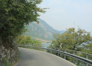 Arriving in Lake Como whilst on our road trip.