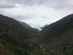 View from the Gotthard Pass