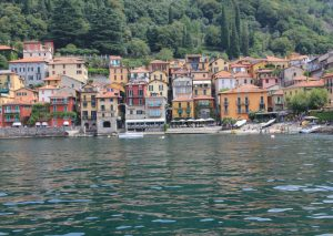 Arriving in Verena, Lake Como, Italy by ferry.